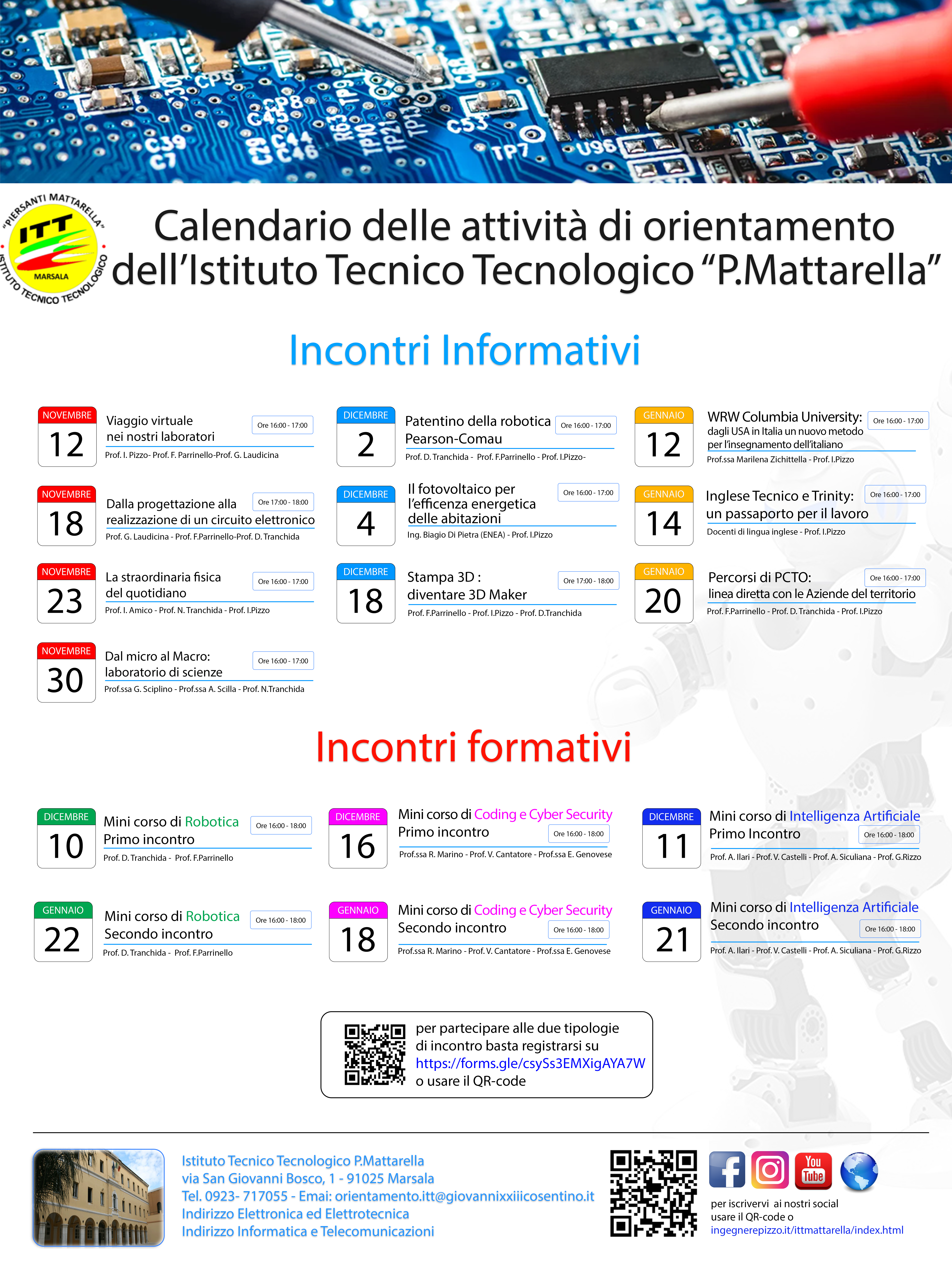 Calendario Attività Orientamento ITT